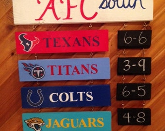 NFL Division Standings Board