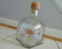 Empty Large Patron Tequila Bottle