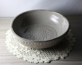 Textured Grey Bowl