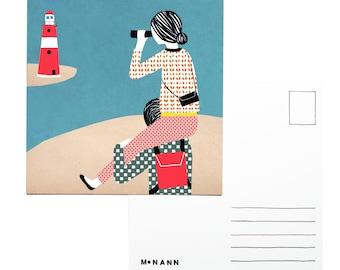 Illustration postcard - Lighthouse