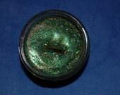 Green Awakening Soy Glitter Candle - rosemary, bergamot, lavender, rose, vetiver, and lime