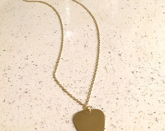 Customizable Guitar Pick Necklace