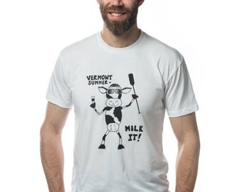 Vermont Summer -- Milk it! Men's soft t-shirt SALE