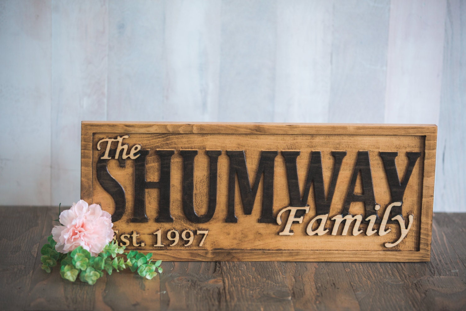 Family name sign established personalized last