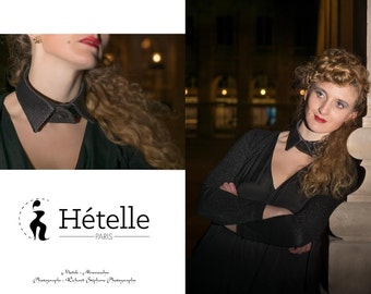 Shirt collar,detachable, jewel collar, fashion accessory, collar made in France, hand made