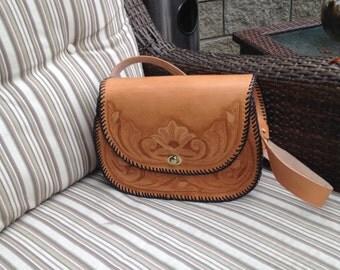 Handtooled Leather purse