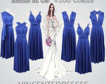 Women Dress Short,Royal Blue Dress,Short Women Dress,Blue Women Dress,Knee-length Bridesmaid Dress,Wedding Party Dress For Women