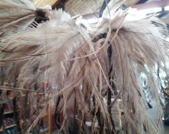 Emu feather skirt installation