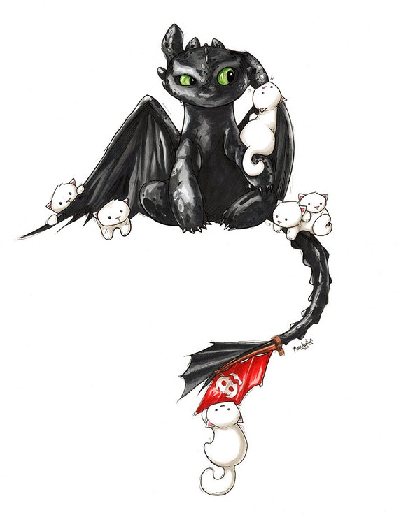 how to train your dragon cat