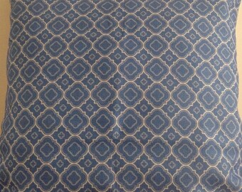 "Light Blue moroccan cushion cover 18"" cotton linen"