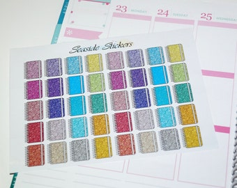 glitter planner stickers || matte or glossy || planner stickers