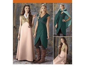 Sewing Pattern for Misses' Cosplay Costumes, Womens Fantasy Costumes, Simplicity Pattern 1008, Game of Thrones, Medieval Costume