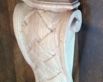 Large Solid Weave Corbel Bracket- Oak or Maple