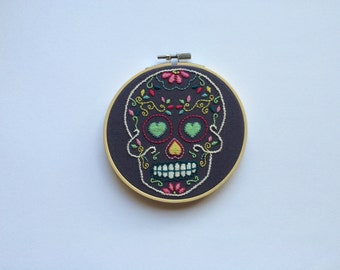 Embroidery Art 'Mexican Sugar Skull' Mercutio 5 Inch Hoop