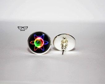 Quantum physics earrings, Atom earrings, science earrings, Art Gifts, fan gift