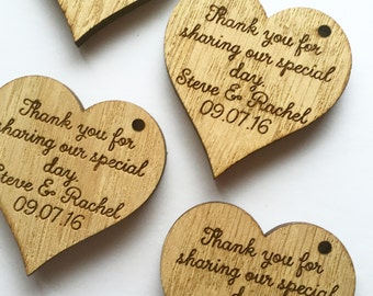 Large Custom Wedding Favors - Heart Favors - Decor - Heart Decorations - Wooden Hearts - Rustic Wedding Favors - 03TD
