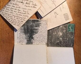 Postcard - Handsewn Vintage French  booklets