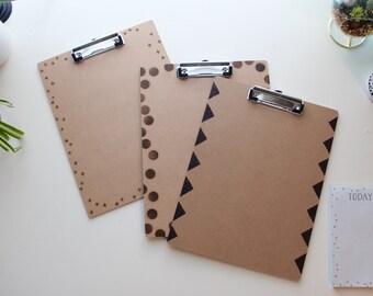 Woodburned Clipboard - Multiple Styles