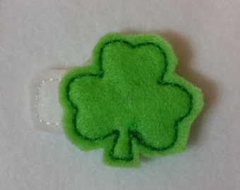 Embroidered Shamrock Hair Clip