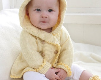 knitted BABY CARDIGAN jacket HOODED jacket Cardigan hooded coat in the colour choice