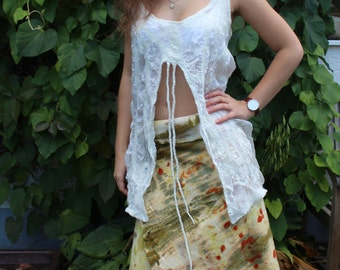 Felted wrap skirt
