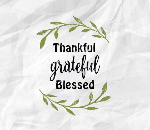 Thankful Svg File Wreath Dxf Blessed Svg Fall Svg Thankful