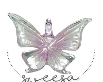 Glass Butterfly Glow in the Dark Pendant
