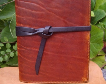 Leather cover for notebook Jean-Lucien