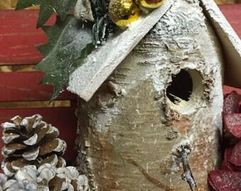 White Birch Bird House