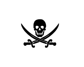 Jolly Roger Decal | Pirate Decal | Yeti Cup Decal | Tumbler Decal | Die-Cut