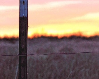 Art Print: PLATTEVILLE no. 25, country landscape, americana art, country art, country decor, farm art, wall art, rural watercolor, sunset