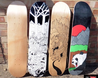 Custom Skateboard Deck or Custom Longboard Deck (UK shipping only)