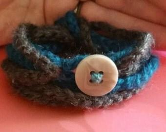Handmade crochet wrap bracelet