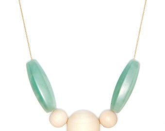 Collar Hache - 15 Amazonite