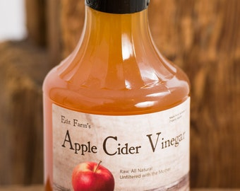 Apple Cider Vinegar - Raw, All Natural with the Mother