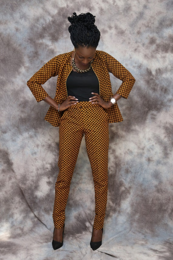 African print top and pants set african clothingpants suit