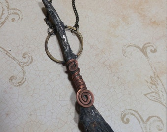 Witches broom with copper spiral