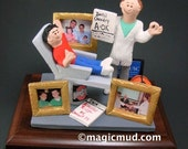 Pediatric Dentist Gift Custom Figurine -  Custom Made Dentist Gift- Dental Figurine - Personalized Dentist Present- Dentist Graduation Gift