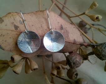 Leaf imprint earrings
