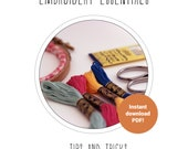Embroidery Essentials ebook – embroidery ebook – stitching tips and tricks – embroidery hints – how to embroider – instant download