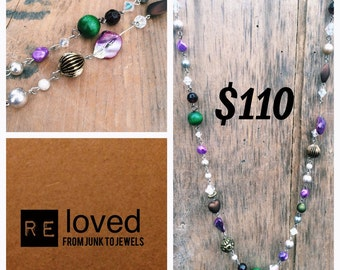 Re-Loved Long Beaded Necklace 024
