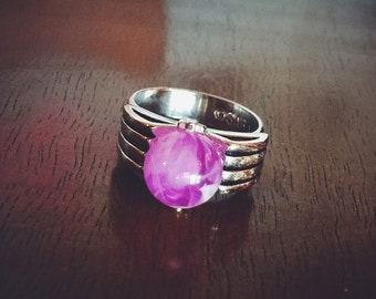 Sarah Coventry Egypt Adjustable Purple Orb Ring