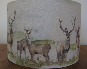 Moorland Stag by Voyage Decoration 30cm drum lampshade