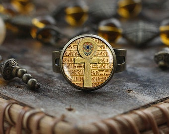 Egyptian ankh cross ring, Egyptian ring, ancient egypt jewelry, ankh ring, Egypt ring, Egyptian jewelry