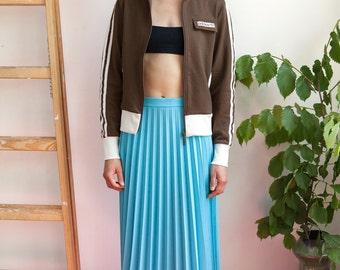Vintage 70's Sky Blue Pleated Skirt