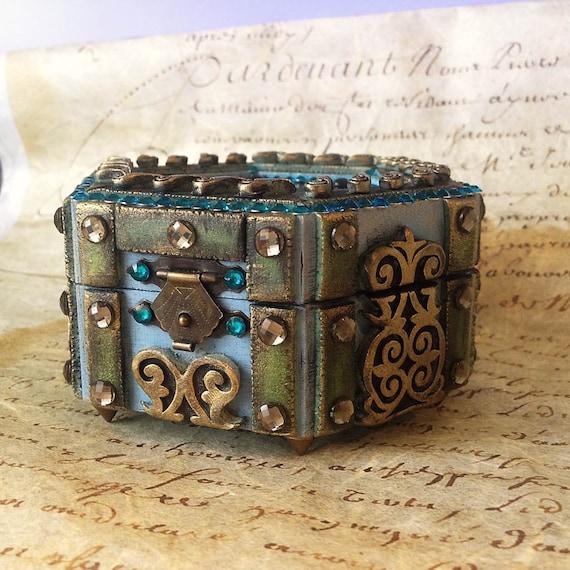 Decorative Jewelry Boxes Ideas : Beautiful ornamental jewelry box handmade wooden by doshe