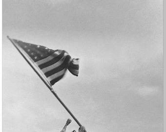 Flag Raise of Iwa Jima LAMINATED Cornhole Wrap Bag Toss Decal Baggo Skin Sticker Wraps
