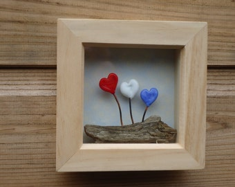 3D Glass Heart Picture