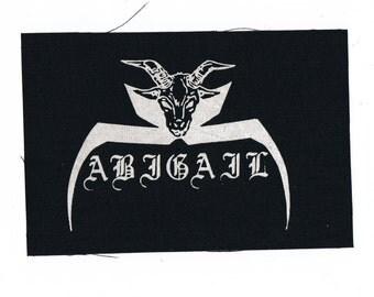 Abigail Metal Band Patch