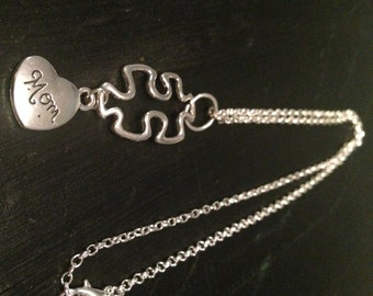 Mother's Day Autism Mom Necklace